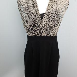 NWT Max & Cleo Black With Print Top Dress 80420-4C